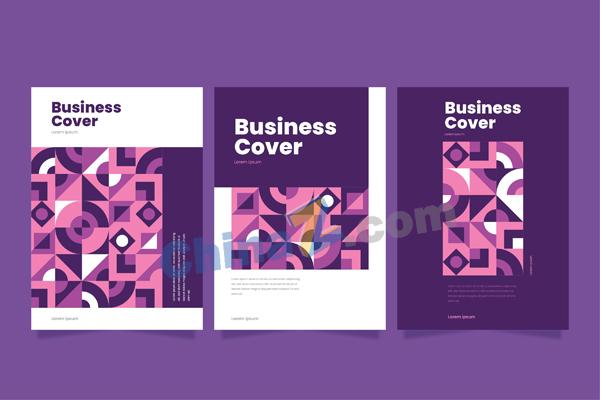 抽象几何商业封面矢量