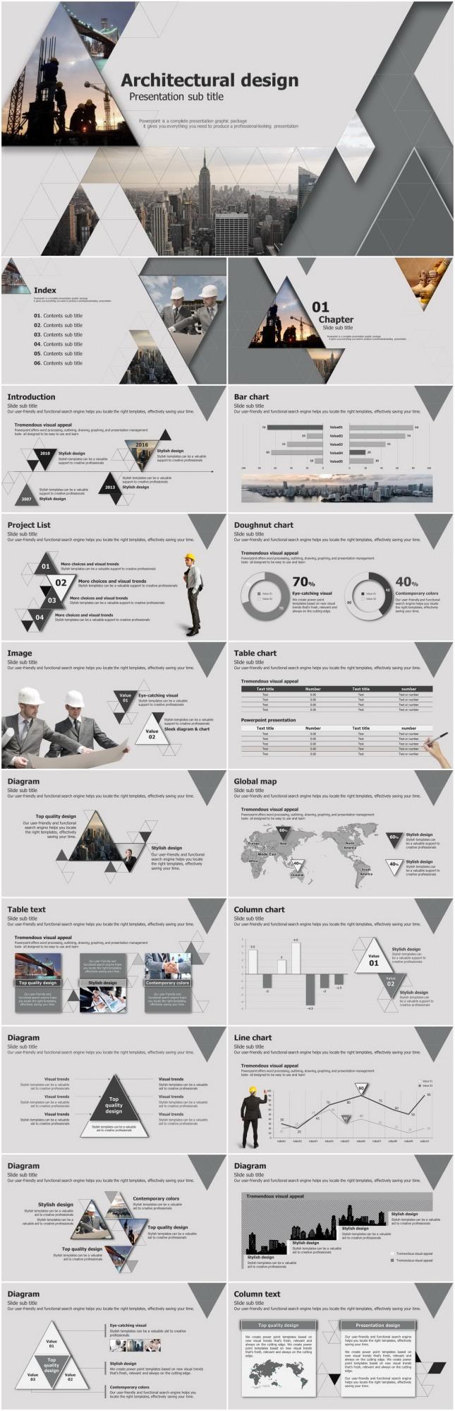 建筑行业施工安全管理PPT模板