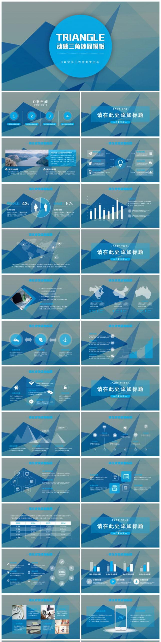 三角冰晶产品推广策划PPT模板