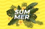 夏日SUMMER矢量海報
