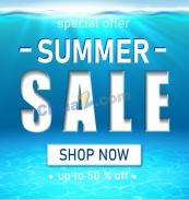 夏日促銷矢量廣告設計