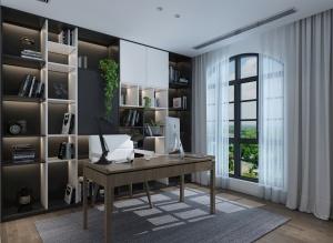 现代书房3D模型设计