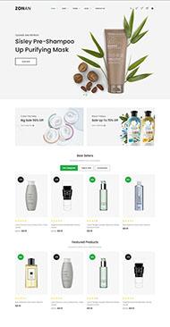 化妆品电商网站响应式模板