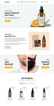 男性護膚產品HTML5網站模板