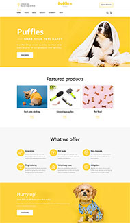 網上寵物用品銷售網站模板