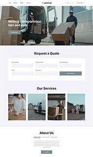 搬家快遞公司網站HTML5模板