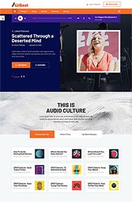 音頻播客音樂網站HTML5模板