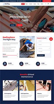 房屋建筑工程企業HTML5模板
