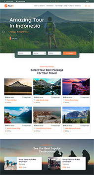 旅游套餐服務網站HTML5模板