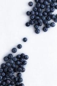 新鮮藍莓背景圖片