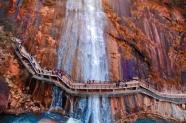 秋季自然風景區瀑布圖片
