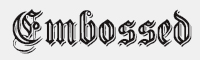 EmbossedGermanica字體