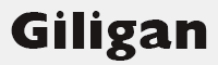 giligan字體