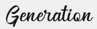 Generation字體