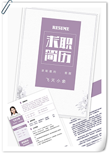 淡雅網絡客服簡歷模板