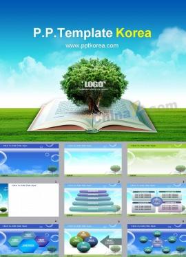環境保護公益講座動態ppt模板