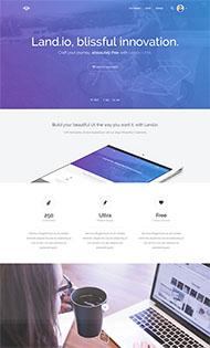 紫色全屏漸變CSS3模板
