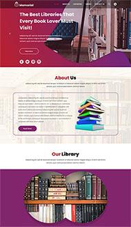 圖書館書籍管理網站模板