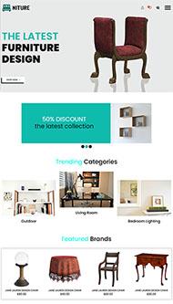 中式家具設計公司網站模板