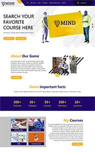 課程教育輔導網站模板