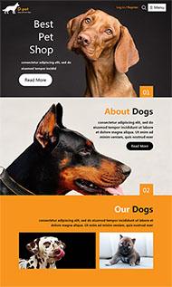 寵物狗專賣店網站模板