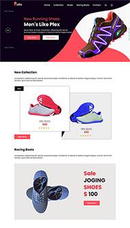 運動跑步鞋鞋企網站模板
