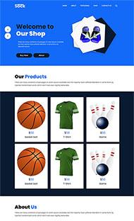 體育運動用品商店網站模板