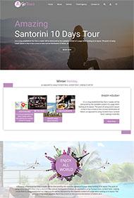 精美全球旅游攻略網站模板