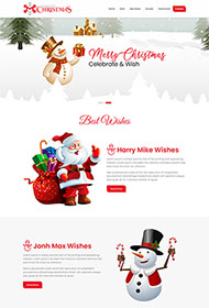 2020年圣誕節網站模板