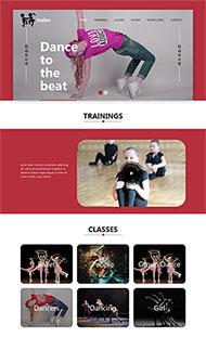 舞蹈培訓HTML5網站模板
