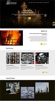 鋼鐵治煉工廠網站模板