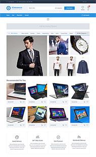 宽屏大气电商网站HTML5模板