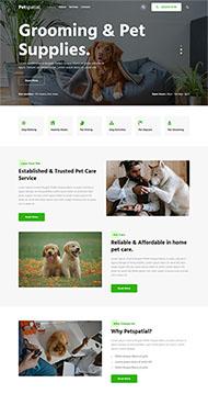 宠物医院连锁品牌网站模板