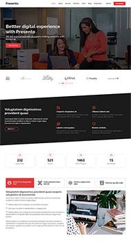 创业公司团队展示网站模板