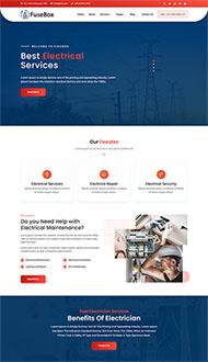 发电厂电力公司网站模板