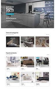 家裝家具銷售電商網站模板