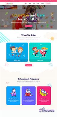 卡通兒童教育機構網站模板