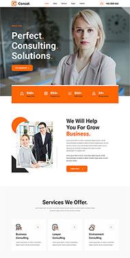 商務咨詢網站HTML5模板
