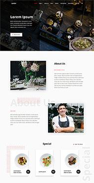 大型餐廳菜品介紹網站模板