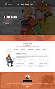 房地產建筑工程隊網站模板