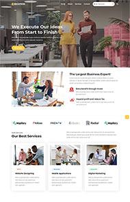 公司業務團隊網站HTML5模板