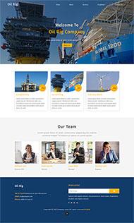 大型項目施工企業網站模板