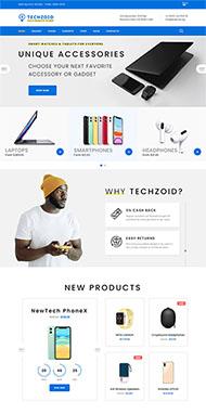 電子產品商店HTML5網站模板