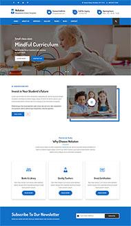 藍色兒童教育學校網站模板