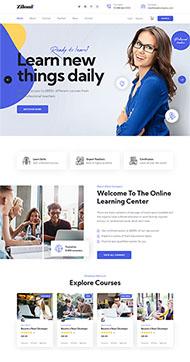 在線教育學習官網HTML5模板