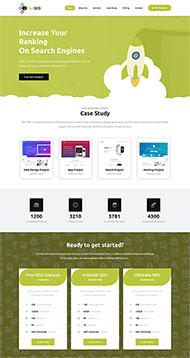 綠色排名優化公司網站模板