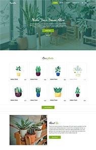 花草盆栽種植企業HTML5模板