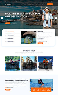 旅游景點攻略介紹主頁模板