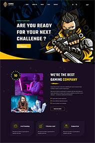 電子競技游戲行業網站模板