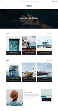 旅游圖文相冊博客網頁模板